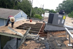 Always practice safety when working on a roof