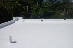 Flat roof has been weatherproofed and sealed