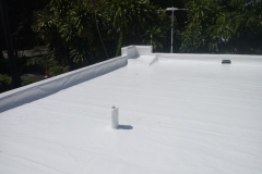 This flat roof is ready for the rain