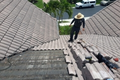 Checking the roofing area