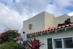 Finishing up the tile roof job