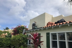 Treating all damaged areas of roof