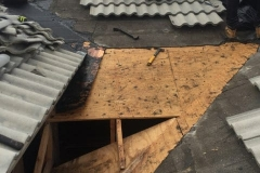 Removing the old roof materials